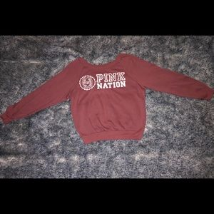 Pink Nation Crewneck Sweater